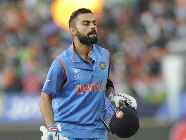 File image of Virat Kohli remained unbeaten on 76, forming a solid partnership with Shikhar Dhawan for the 2nd wicket. AP