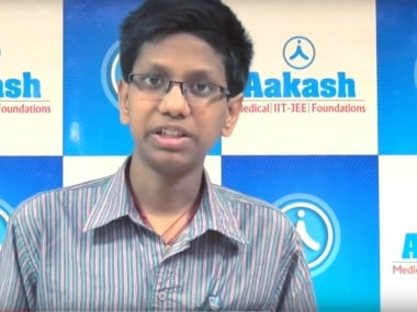 V Mohan Abhyas secured 64th rank in JEE Advanced 2017. Image courtesy: Youtube
