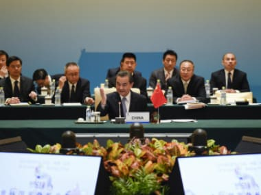 China's Foreign Minister Wang Yi attends the BRICS Foreign Ministers meeting in Beijing. Reuters