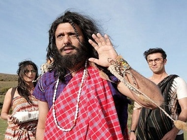 Katrina Kaif, Govinda and Ranbir Kapoor in a leaked picture from sets of Jagga Jasoos. Twitter