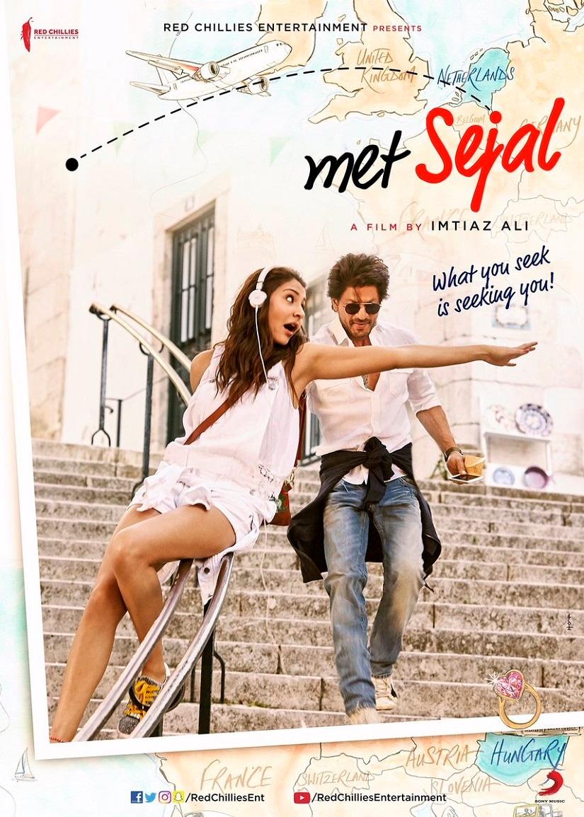 Jab Harry Met Sejal poster. Image via Facebook page of Shah Rukh Khan