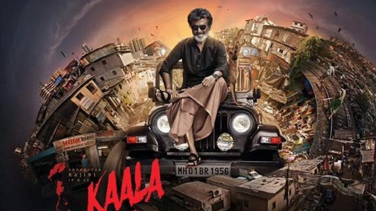Rajinikanth in a poster of Kaala. Twitter@SuperstarRajini