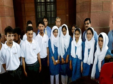 Students of Kashmir Super-40. PTI