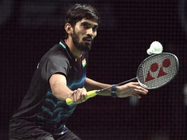 Srikanth Kidambi in action against Shi Yuqi in the semi-final of the Australia Open. Image: @srikidambi