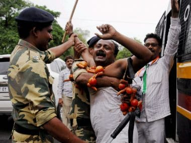 File image of a farmer protesting against the government in Nagpur. PTI
