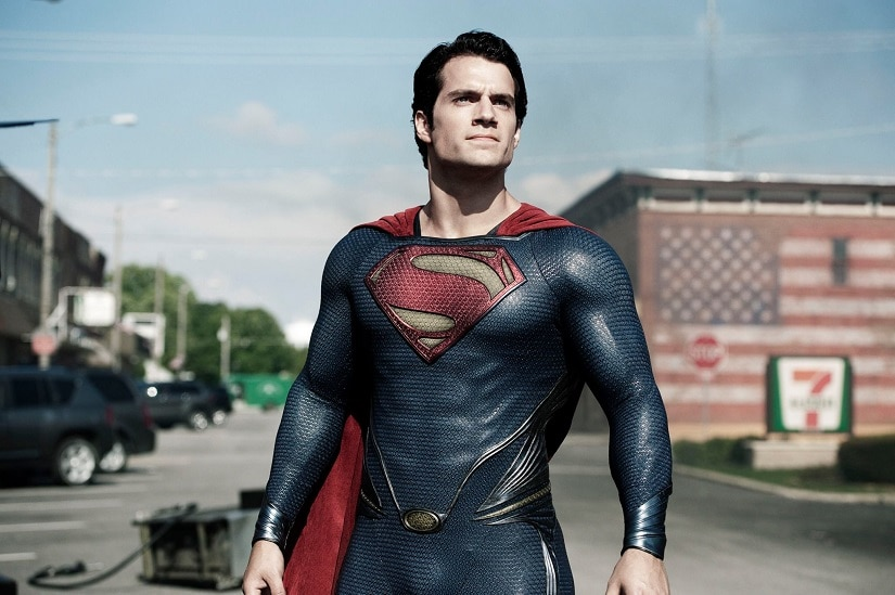 Henry Cavill as Superman in Man of Still. Image from Facebook