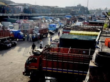 A view of APMC vegetable market on the second day of farmers' strike in Navi Mumbai on Friday. PTI