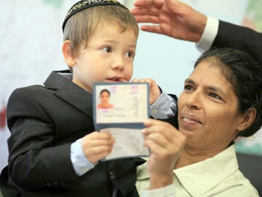 File image of Moshe Holtzberg with his Indian nanny Sandra in 2010. Getty Images