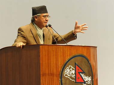 File image of Nepali Congress president Sher Bahadur Deuba. Getty Images