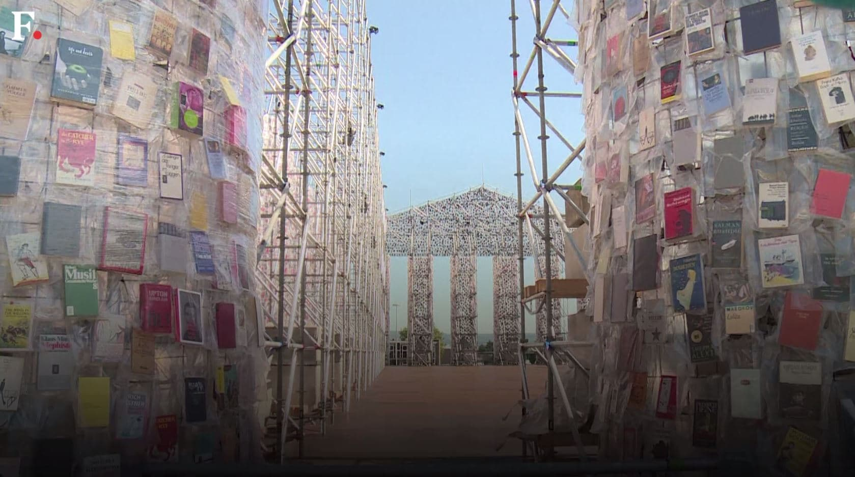 Watch: The 'Parthenon of Books' a monumental artwork to protest censorship