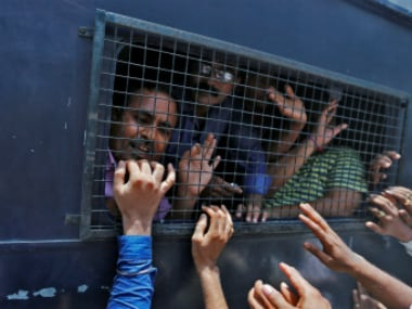 File photo of prisoners being taken to prison in a police van in Ahmadabad (representational image). Reuters