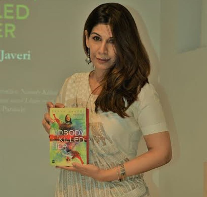 Sabyn Javeri with her book, Nobody Killed Her