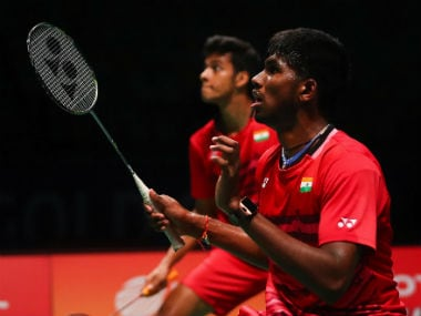 File photo of Chirag Shetty (L) and Satwiksairaj Rankireddy in action. AFP