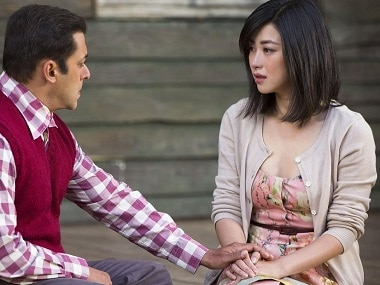 Salman Khan and Chinese actress Zhu Zhu from Tubelight