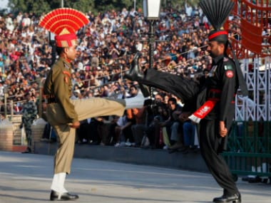 Lowering of the flags ceremony at Wagah border (representational image). Reuters