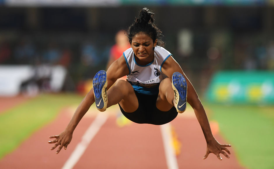 Nayana James finished third in the the women's Long Jump. AFP