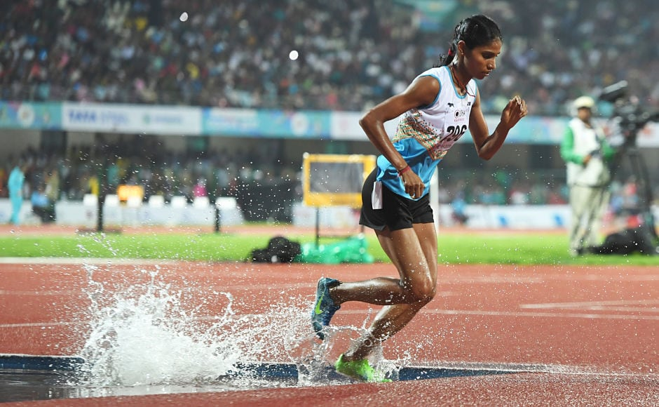 Sudha Singh won the gold medal in the women's 3000 steeplechase event. AFP