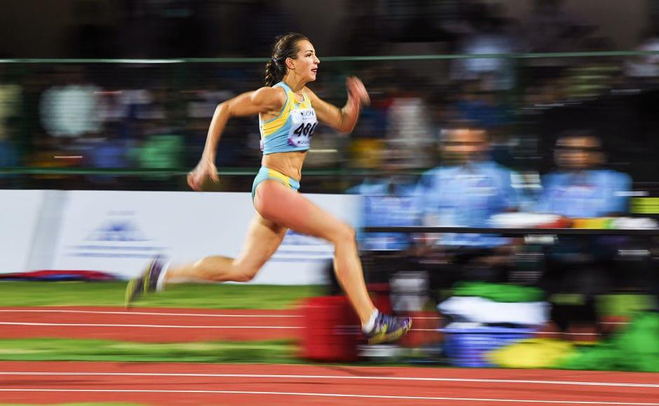 Kazakshtan's Irina Ektova won silver medal in the women's Triple Jump event. AFP
