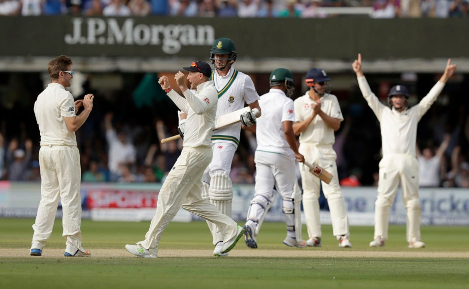 England registered a handsome 211-run win over South Africa in the first Test, thus ending visitors unbeaten record at Lord's since 1960. AP