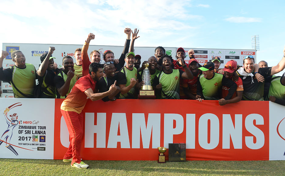 Zimbabwe registered an unprecedented 3-2 series win over Sri Lanka on Monday in the five-match ODI series as they won the fifth and final ODI by 3 wickets, with over 10 overs left in the game. AFP