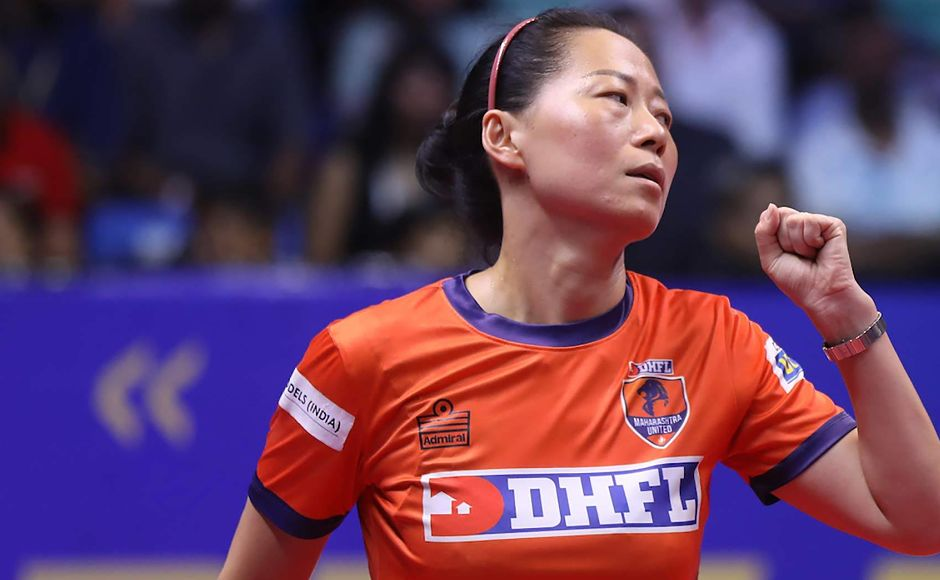 In the women's singles, Fu Yu started with a win over Mouma Das of Shaze Challengers to secure her team's first points in the tie. UTT