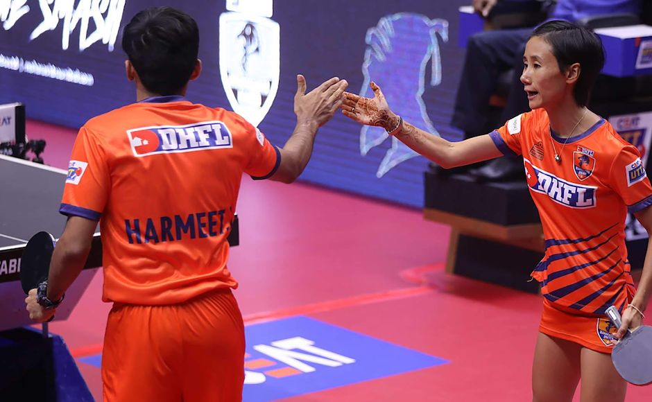 Harmeet Desai of Liu Jia of DHFL Maharashtra United then won two games but couldn't stop Soumyajit Ghosh and Petrissa Solja from securing a lead for their team. UTT