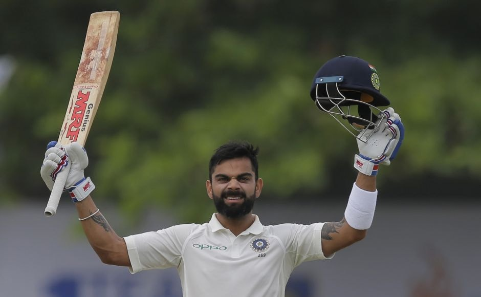 India skipper Virat Kohli completed his 17th Test century (103 not out) as India declared its second innings on 240 for 3. AP