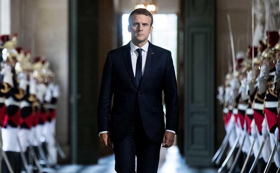In his first address to members of the National Assembly and Senate since his election in May, French president Emmanuel Macron delivered a US-style state of the nation speech in the Versailles Palace, the former seat of French kings, saying the country must change. AP
