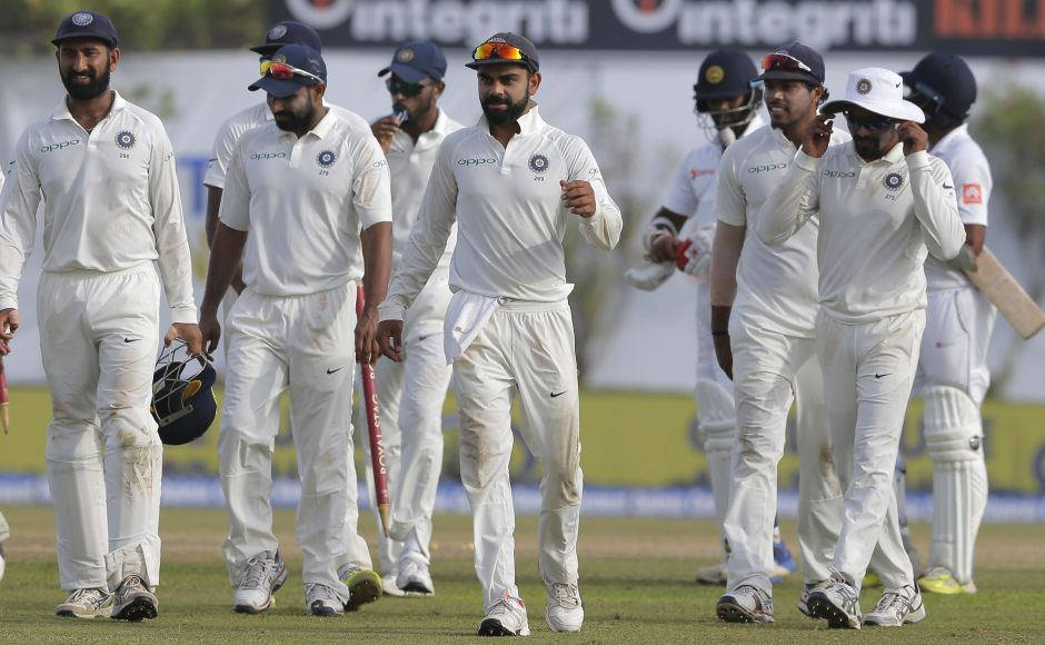 Spin duo Ravichandran Ashwin and Ravindra Jadeja took 3 wickets each to help India thrash Sri Lanka by 304 runs in the opening Test and take a 1-0 lead in the three-match series at Galle on Saturday. AP