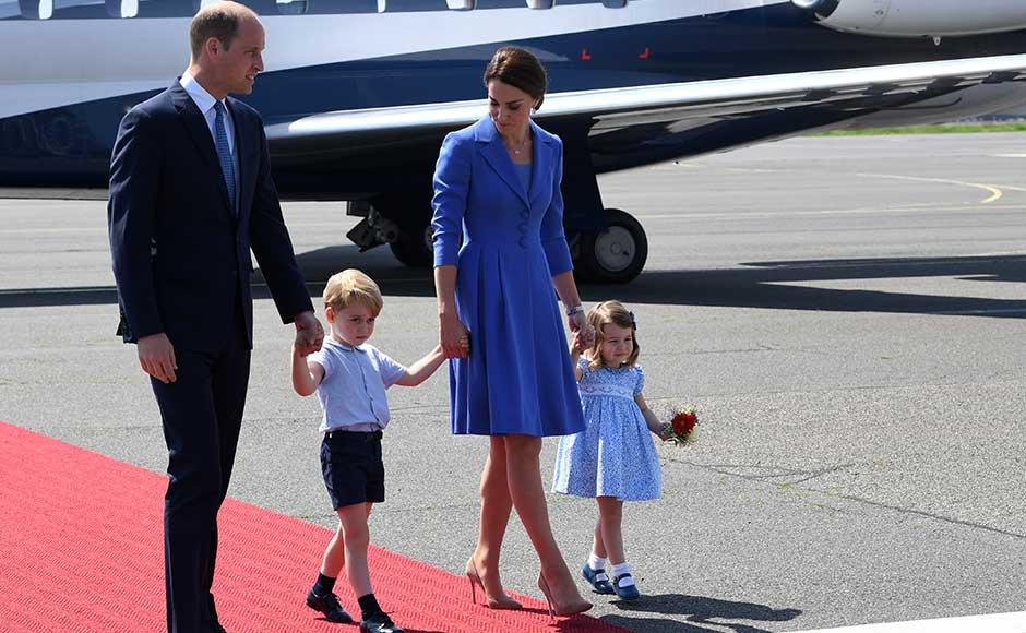 "Prince William and wife Kate Middleton began a three-day visit to Germany on Wednesday billed as a ""charm offensive"" by local media as Britain begins thorny Brexit talks in earnest. William, who is second in line to the British throne, and Kate touched down in Berlin from Poland accompanied by their young children George and Charlotte. AP"