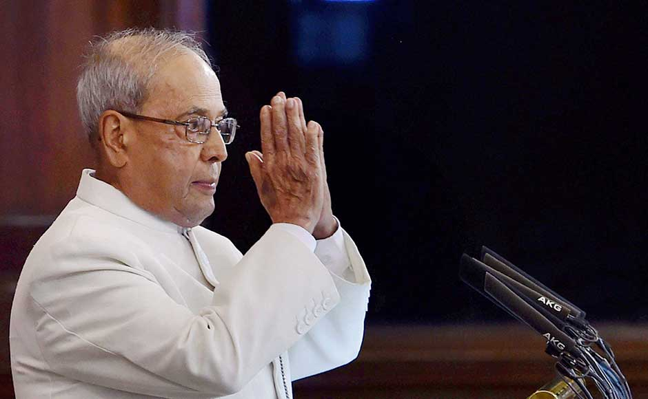 Members of Parliament on Sunday bid adieu to outgoing President Pranab Mukherjee at a gala ceremony in the Central Hall of Parliament, as leaders recalled his contribution in upholding democratic values. PTI