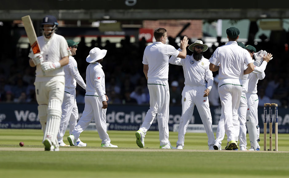 Day 2 started with South Africa's Morne Morkel taking the wicket of England captain Joe Root, who fell 10 short of a double hundred. AP