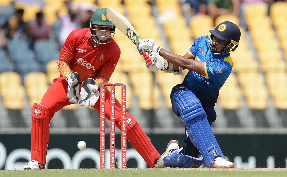 Danushka Gunathilaka along with Niroshan Dickwella gave Sri Lanka a solid start after the hosts won the toss. AP