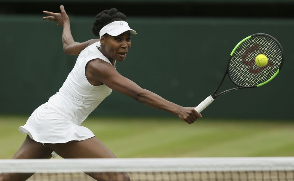 After some tense early exchanges, Venus Williams upped the aggression levels with great intent. AP