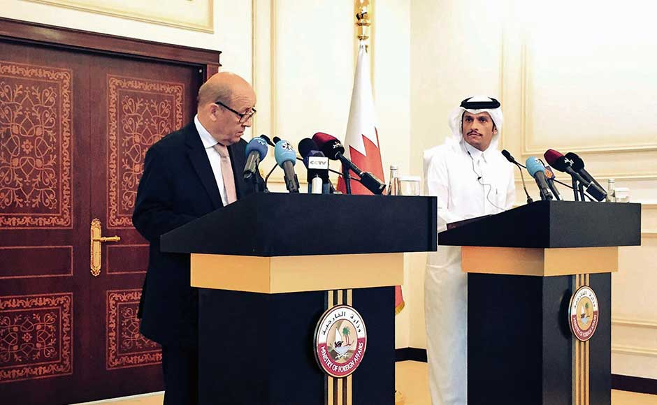 Qatar's foreign minister welcomed France's support for mediation aimed at finding a solution