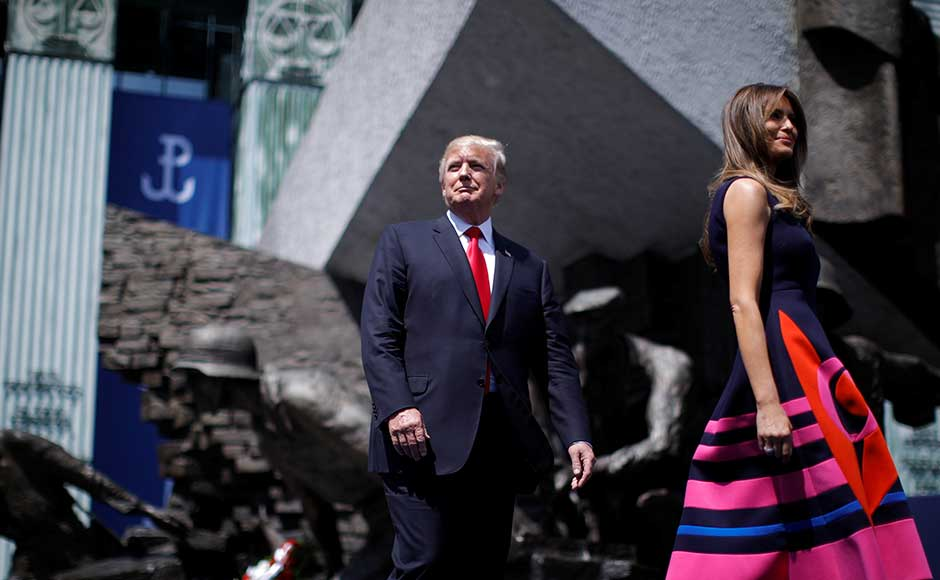 The US president, in his public speech with Polish counterpart Andrzej Duda, pledged that US would back NATO at the start of the high-stakes visit to Europe on Thursday, as he warned that the future of the West was at risk. Reuters