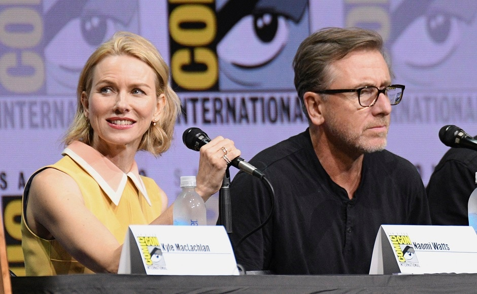 Naomi Watts, left, and Tim Roth attend the Twin Peaks panel on day two. Photo by AP