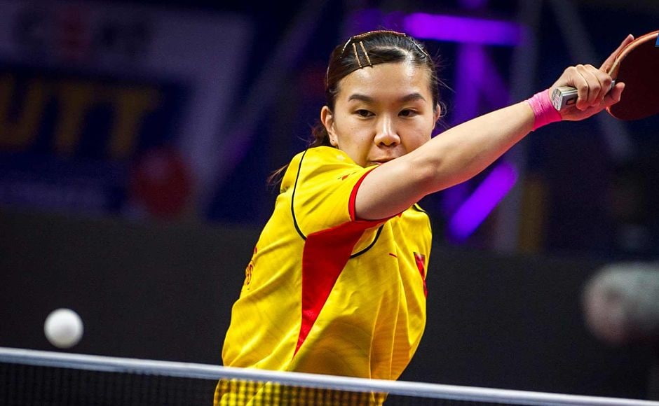 Lee Ho Ching smashed her way to a dominating 3-0 win against Polina Mikhailova in Match 5. Image Courtesy-Facebook: @UltimateTableTennis
