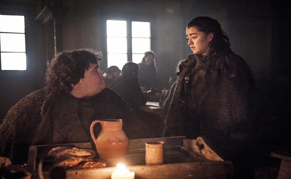 Arya meets her old-time friend Hot Pie who tells her about the recent developments in The North. Image via Twitter.