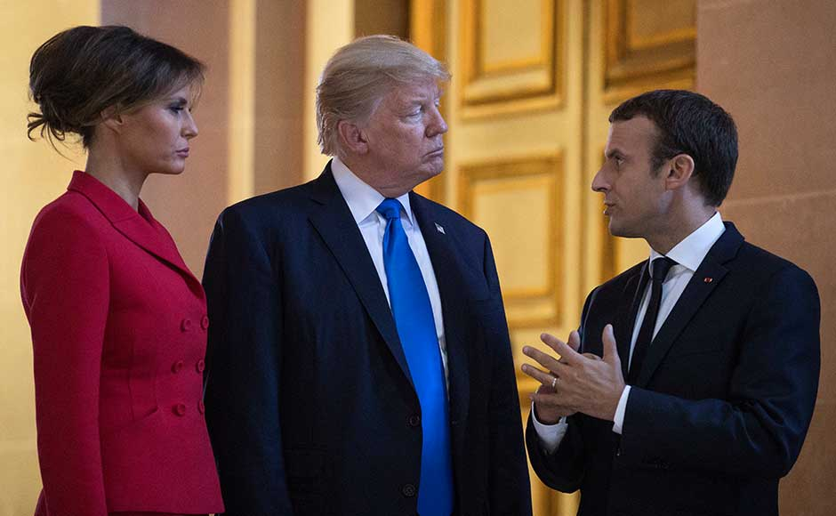The US president is to be Macron's guest of honour during Bastille Day celebrations on Friday, France's national day, which will also celebrate the 100th anniversary of US involvement in World War I. AP