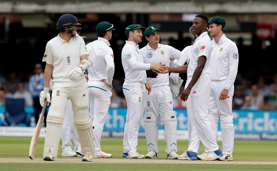 Kagiso Rabada, who has been banned for the next Test for swearing at Ben Stokes, once again had his man and ended up with 3 for 50. AP