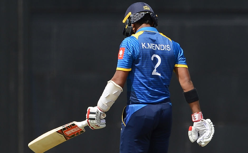 Sri Lanka's Kusal Mendis too couldn't stay for long as he was dismissed by Sikandar Raza on 1. AFP