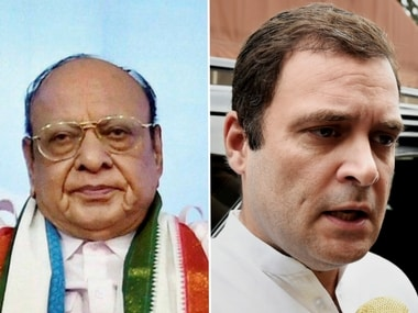 File image of Shankersinh Vaghela and Rahul Gandhi. PTI