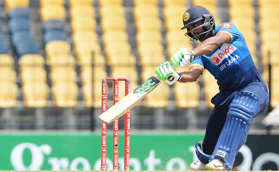 Amidst the chaos, Asela Gunaratne made a brave half-century and took his team's total over 200. AFP