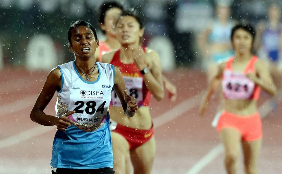 India's Monica Choudhary won with the gold medal during the Women's 1500m event. PTI