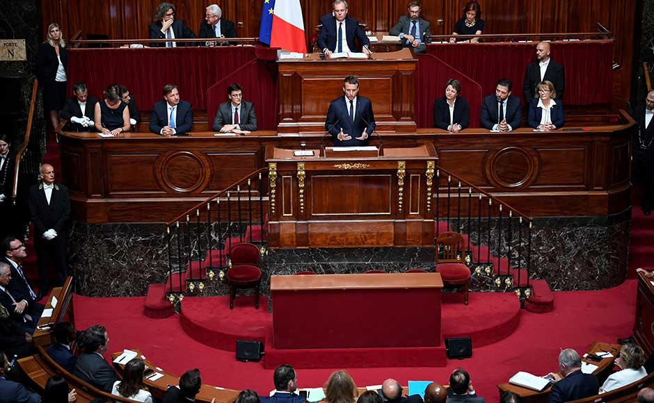 """The French president also said that the European Union has """"lost its way"""", calling for a """"new generation of leaders"""" to revive the bloc. """"The building of Europe has been weakened by the spread of bureaucracy and by the growing scepticism that comes from that,"""" he said at the address. AP"""