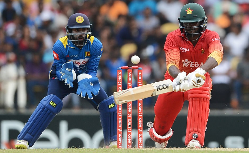 Zimbabwe's Solomon Mire gave his side a brisk start in the chase of 301, scoring 43 runs in quick time. AFP