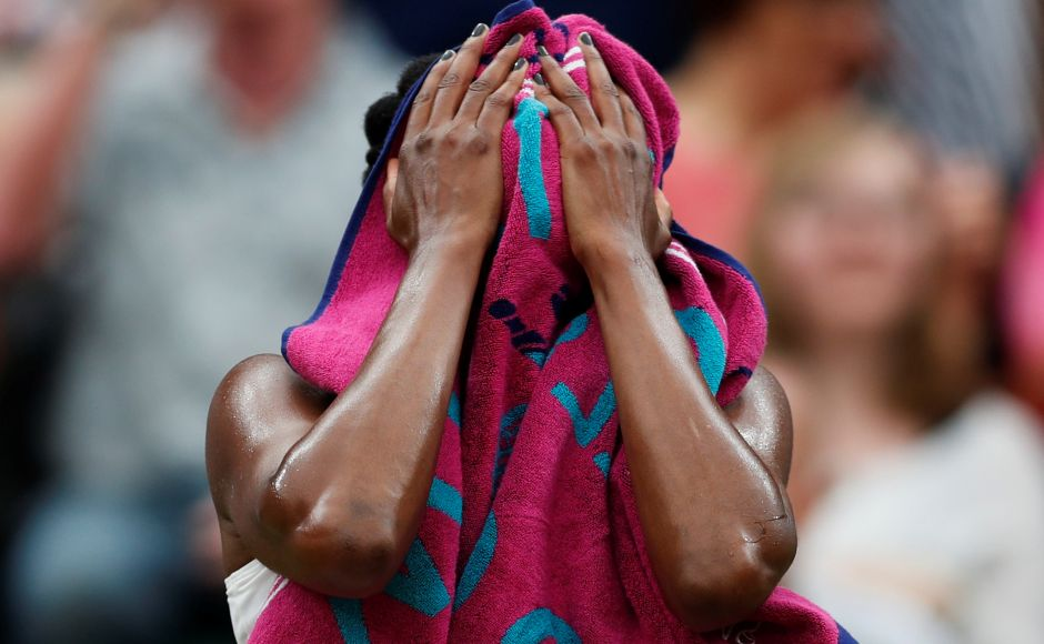 Venus Williams seemed to hit a mental and physical wall after losing the first set. Reuters