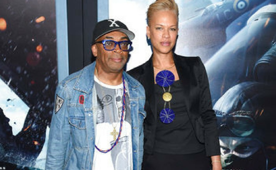 (L-R) Spike Lee and Tonya Lewis Lee attend the premiere of Dunkirk in New York. (AP Photo)