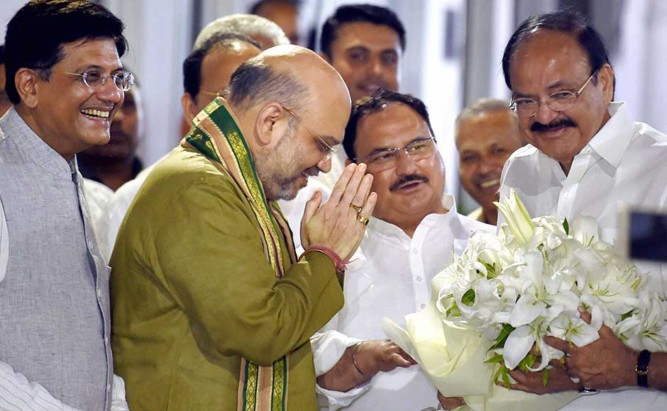 "Asked about reports that Naidu was reluctant to take up the new responsibility, the BJP chief told reporters, ""There is nothing like this"". He added that the senior leader had always accepted the party's decisions. PTI"